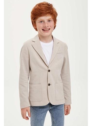 DeFacto Erkek Çocuk Blazer Ceket Bej